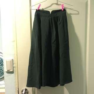 🚚 墨綠長裙 七分裙 #一百均價