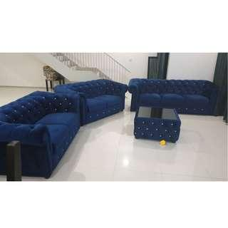Chesterfield Sofa 1+2+3+Coffee Table