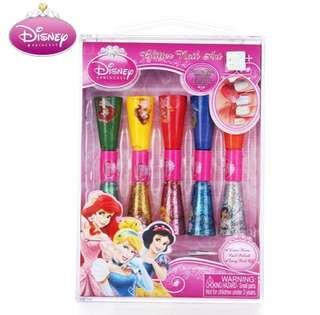 🚚 Authentic Disney Princess Glitter Nail Polish Set