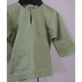 Baju Melayu Baby (soft green) #MHB75