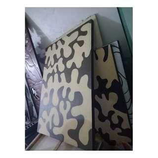 Wall frame beige and black Design canvas