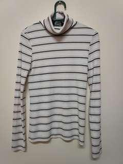 Turtleneck sexy stripe knitted