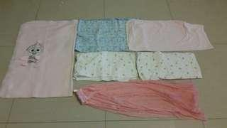 Bundle sale: baby swaddle,blanket and sarung buaian
