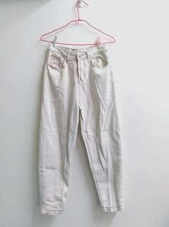 🚚 九成新✨白色直筒褲
