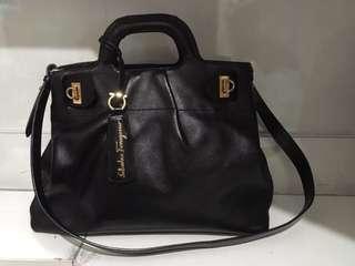 Ferragamo satchel with sling Not Givenchy Prada Ysl Hermes Balenciaga Bottega