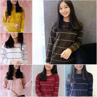BERSHKA STRIPE SWEATER NEW