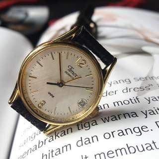 Jam Tangan Wanita Timex date Genuine Leather