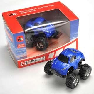 Rapid Kuper, Pull/Back, Die Cast, Monster Series, Color Blue