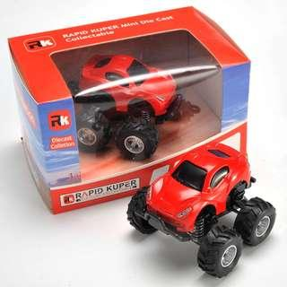 Rapid Kuper, Pull/Back, Die Cast, Monster Series, Color Red