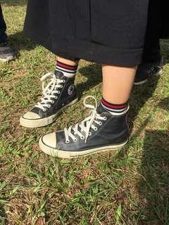 🚚 Converse 高筒帆布鞋 荔枝皮