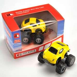 Rapid Kuper, Pull/Back, Die Cast, Monster Series, Color Yellow