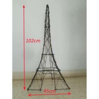 Cute ! Paris Eiffel Tower Model Metal Decor Home Gardening Frames