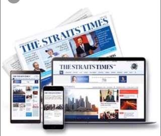 Straits Times Online Subscription Sharing
