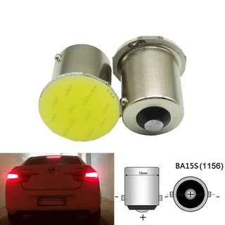 2x P21W 1157 Bay15d 1156 BA15S P21W LED Turn Signal Bulb COB Car Interior Light Parking Reverse Back Brake Lamp Super Bright 12V