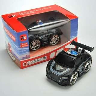 Rapid Kuper, Pull/Back, Die Cast, Police Series, Color Tail Black