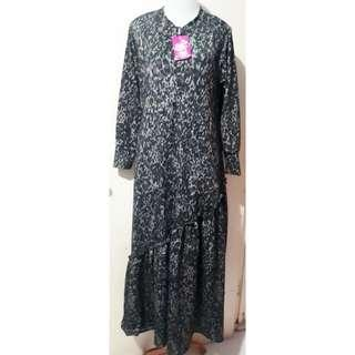 Gamis Jersey Remple Bawah Leopard