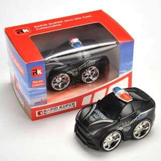 Rapid Kuper, Pull/Back, Die Cast, Police Series, Color Black