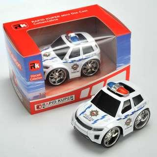 Rapid Kuper, Pull/Back, Die Cast, Police Series, Color White