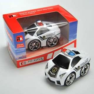 Rapid Kuper, Pull/Back, Die Cast, Police Series, Color White/Black