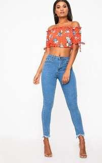 BNWT Pretty Little Thing blue jeans