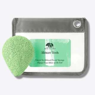 ORIGINS SKINCARE TOOLS GREEN TEA INFUSED FACIAL SPONGE - postage included