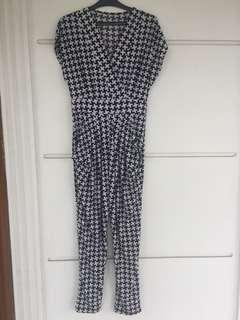 Long Jumpsuit / jumpsuit hitam putih