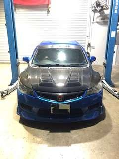 Civic FD2R Carbon Fibre Parts