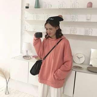 🚚 #080 harajuku oversized boyfriend solid coloured hoodie