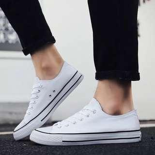 Men White Canvas Shoes BRAND NEW