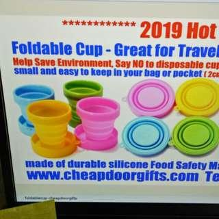Foldable cup save environment
