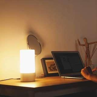 🚚 AUKEY Table Lamp, Touch Sensor Bedside Lamps + Dimmable Warm White Light & Color Changing RGB for Bedrooms