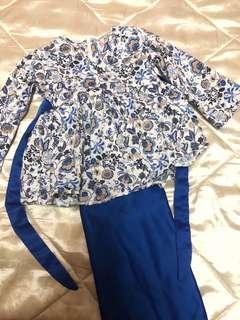 Baju Kurung Budak - Preloved