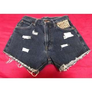 Studded Ripped Shorts
