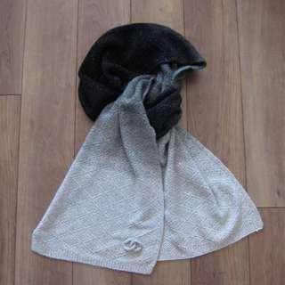 Chanel 羊毛圍巾 近全新