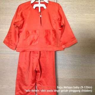 Baju Melayu baby (orange) #MMAR18