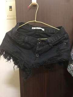 🚚 極短短褲(黑)