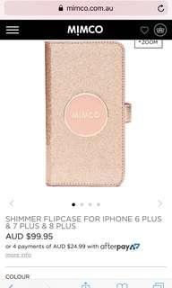 Brand new shimmer cover and pouch