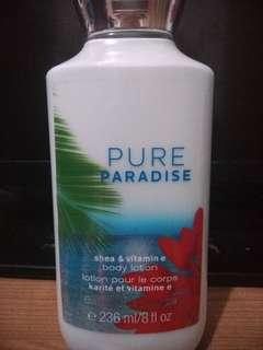 Bath & body works (BBW)  body lotion pure paradise