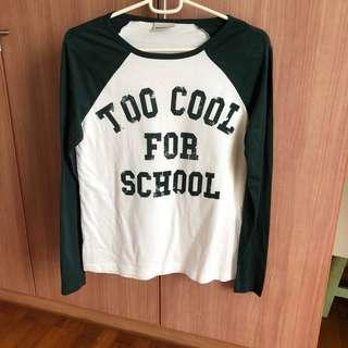 🚚 ASOS Too Cool for School Raglan Tee