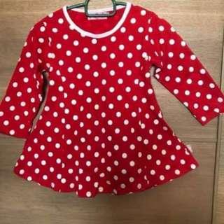 Red polkadot top (princess cut) #MMAR18