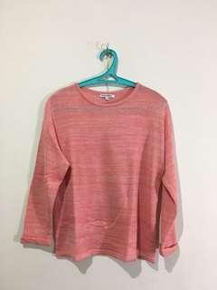 colorbox knitted pink top