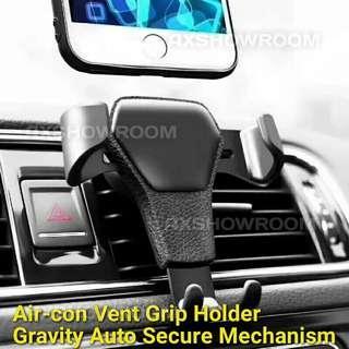 Air Vent Mobile Phone Holder - Auto Grip Gravity Mechanism