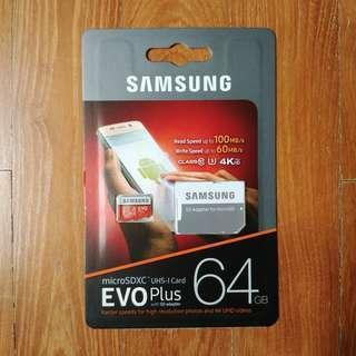 🚚 BN Samsung Evo Plus 64GB microSD Card