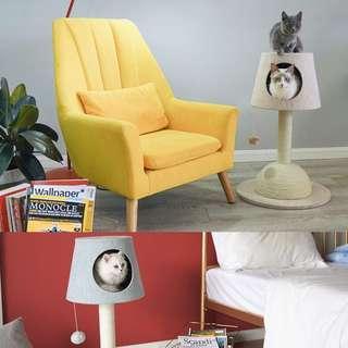🐈 Lamp-shaped cat house!