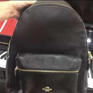 Coach Charlie Large Leather Backpack