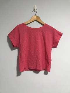 Pink Polka Dot Crop Top