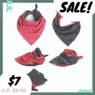 Instock! Reversible pet scarf (Polka dots)