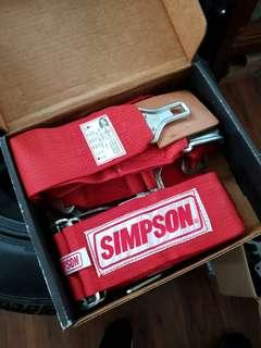 Simpson racing harness safety belt