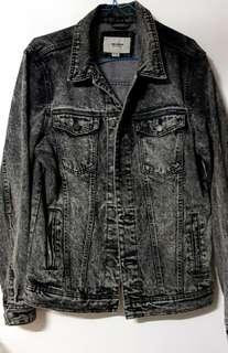 Pull and Bear Black Washed Jacket