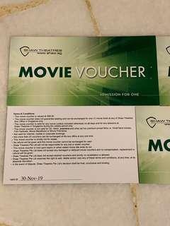 10pcs Shaw Movie Vouchers